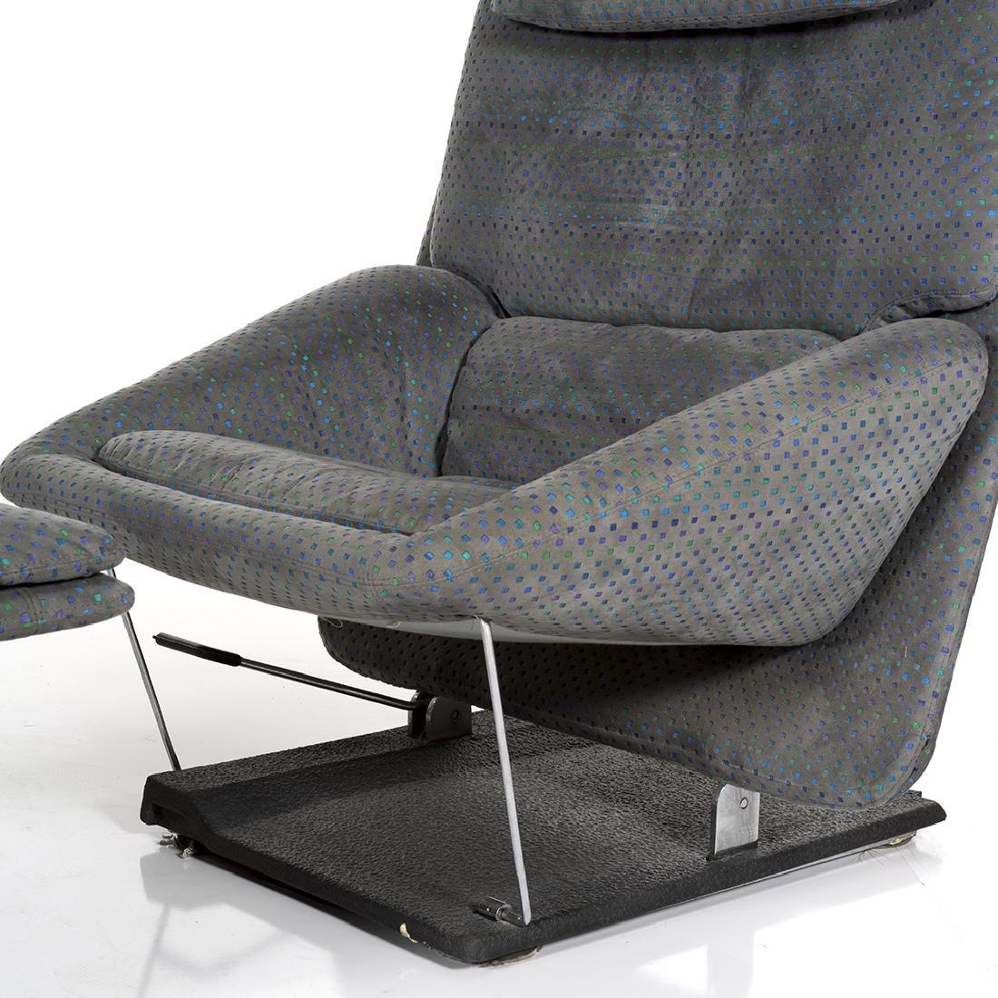 Saporiti Lounge Chair and Ottoman - 7