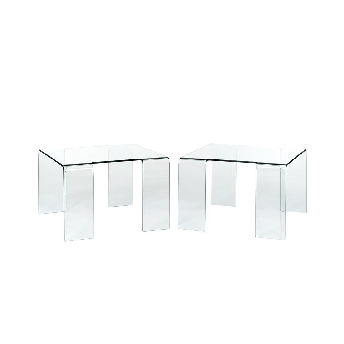 Bent Glass Coffee Tables (2)