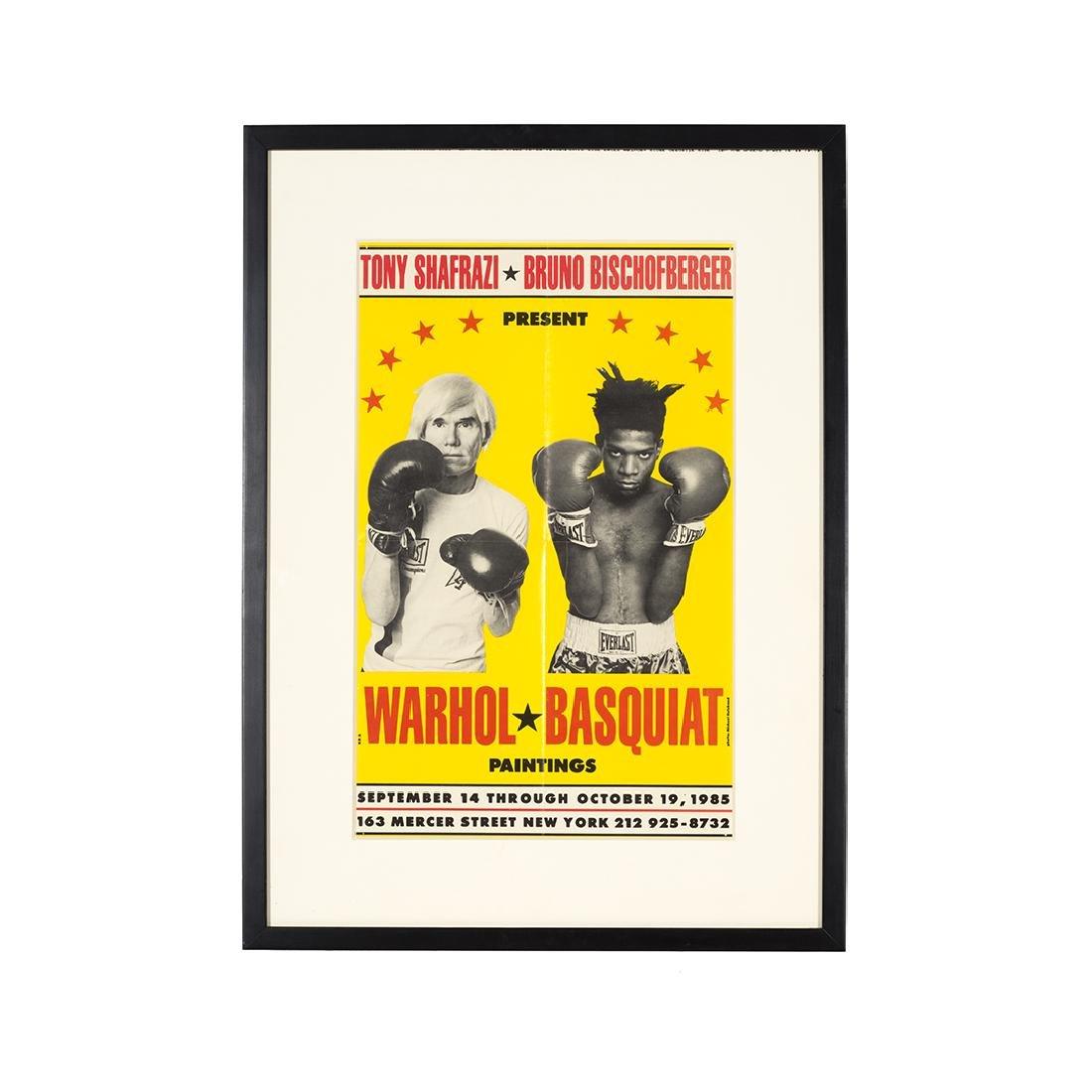 Warhol Basquiat Exhibition Poster