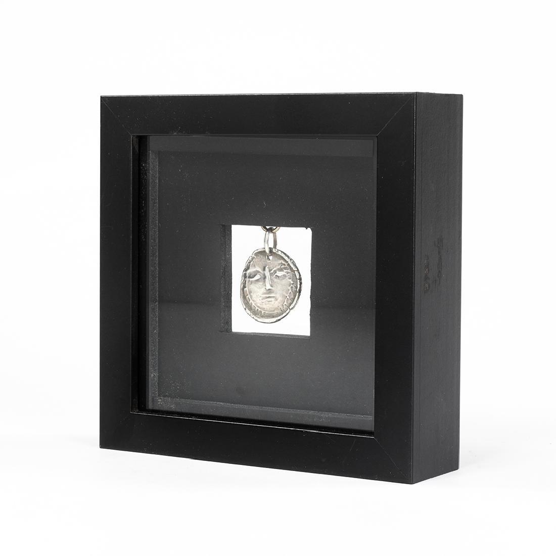 Pablo Picasso Visage Silver Pendant