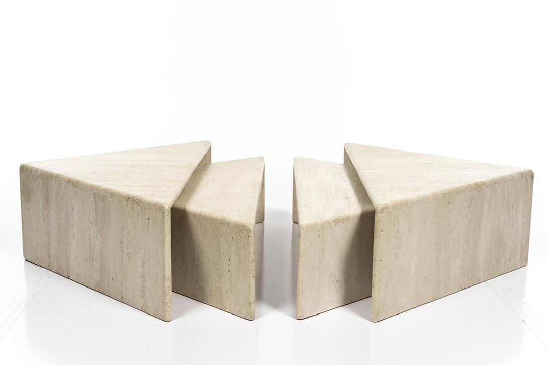 Travertine Nesting Coffee Tables (4) - 4