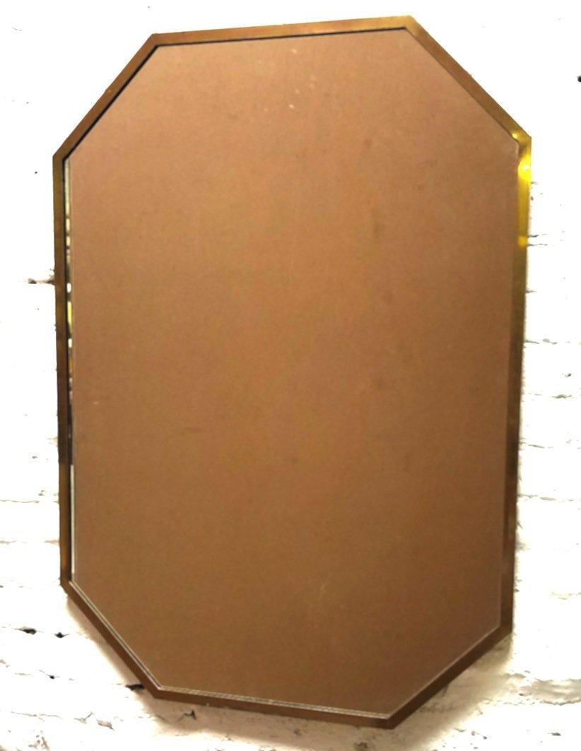 Brass Framed Mirror