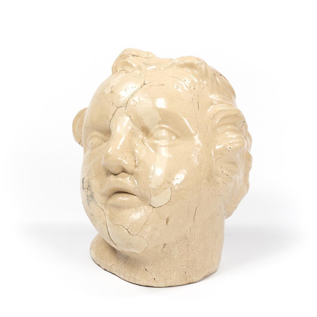 Large Porcelain Cherub Head - 2
