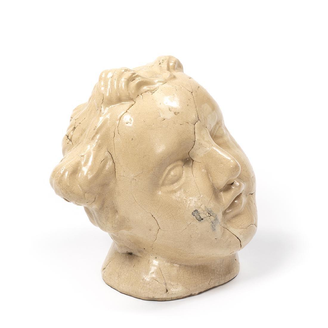 Large Porcelain Cherub Head - 3