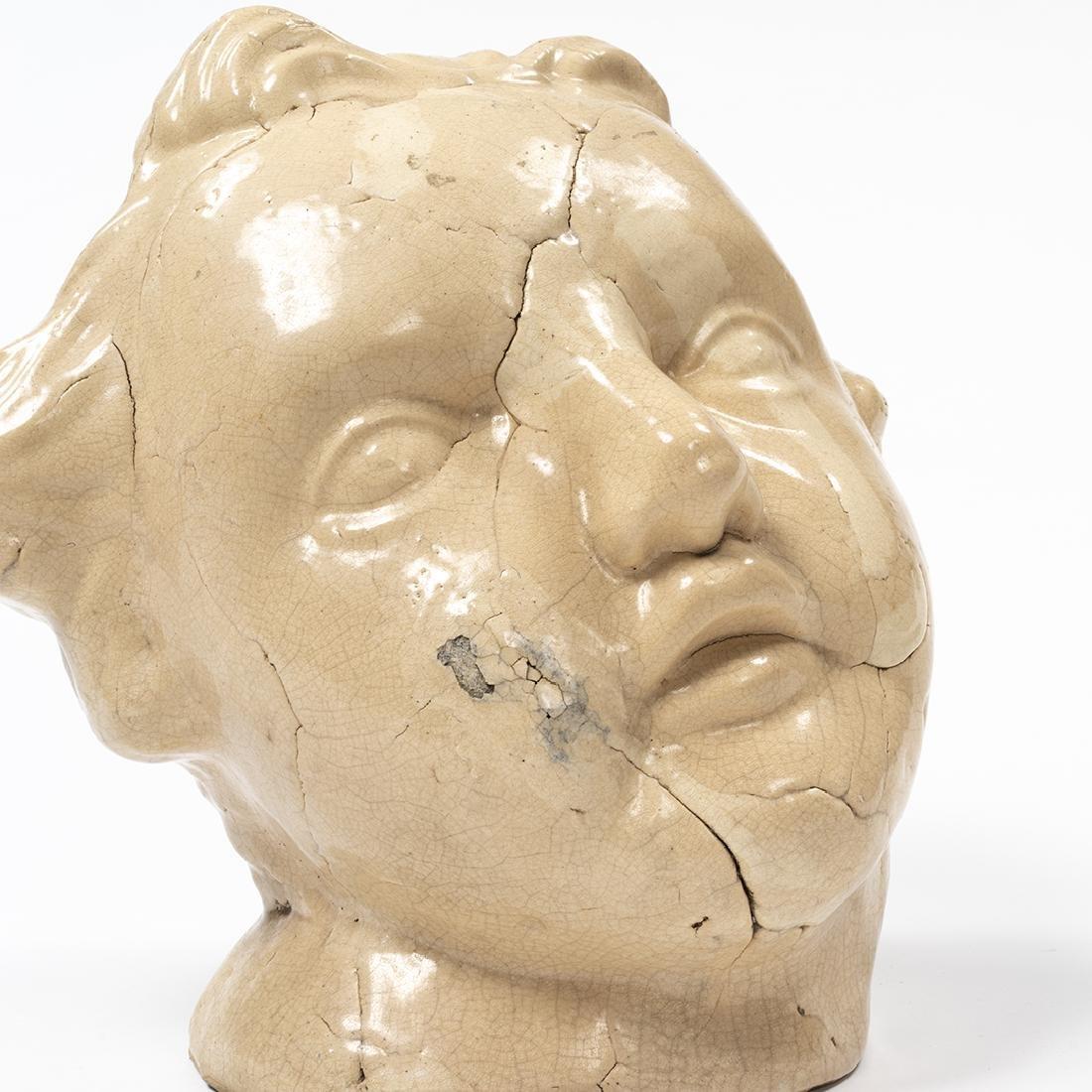 Large Porcelain Cherub Head - 5