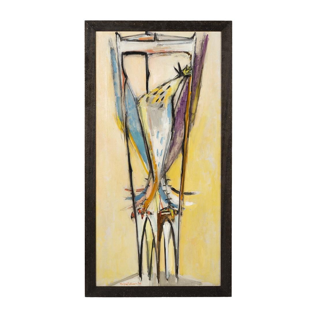 Manfred Schwartz Oil on Canvas