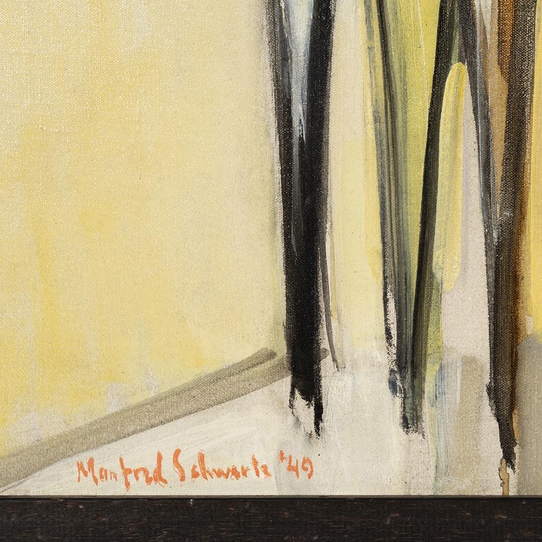 Manfred Schwartz Oil on Canvas - 2