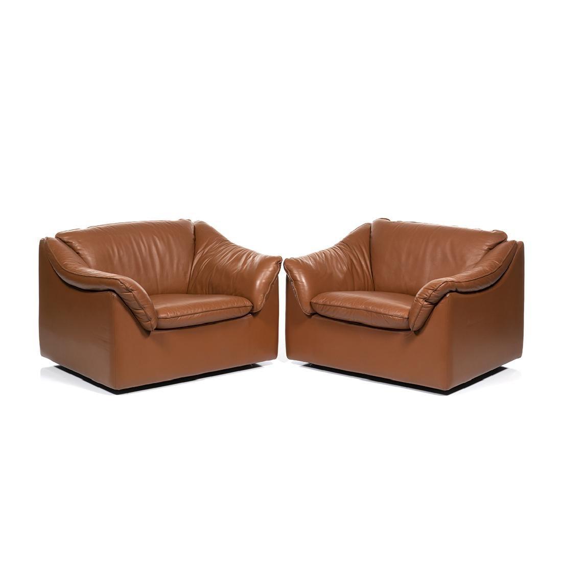 Pair of Metropolitan Leather Club Chairs (2)