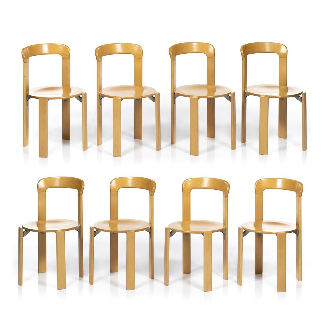 Bruno Rey Dining Chairs (8)