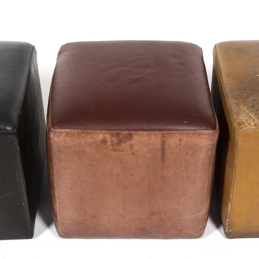 Distressed Leather Ottomans (4) - 3