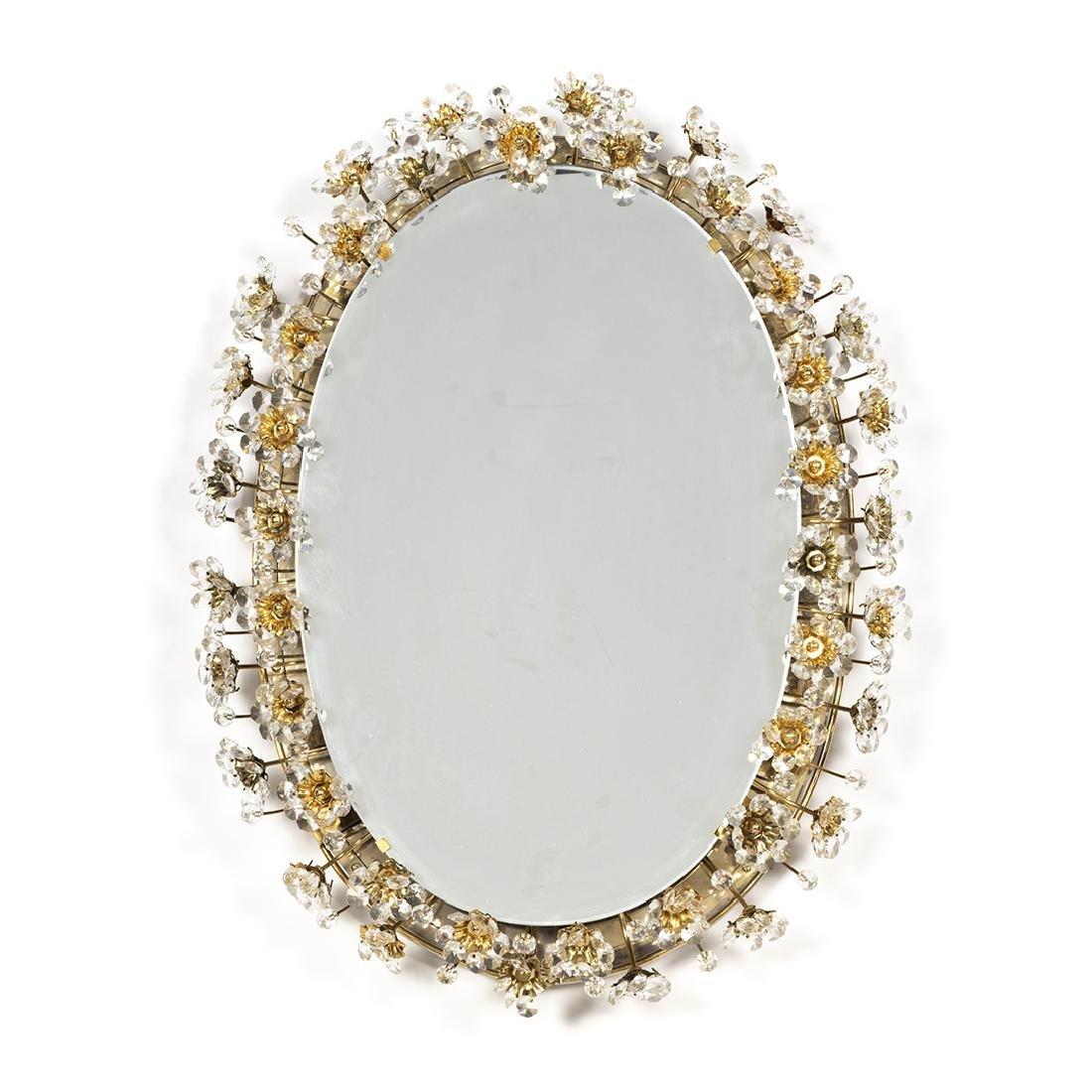 J & L Lobmeyr Style Illuminated Mirror