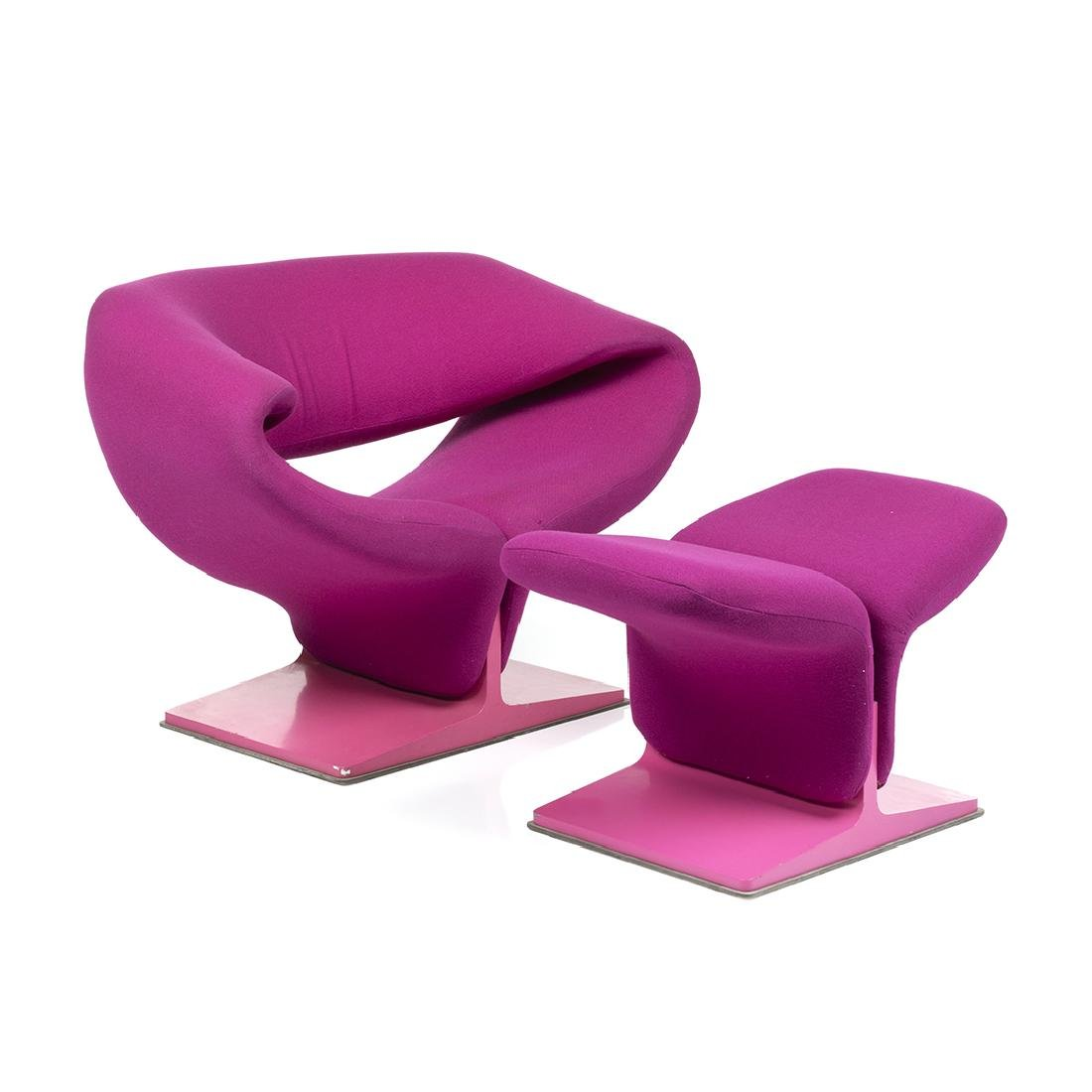 Pierre Paulin Ribbon Chair and Ottoman (2)