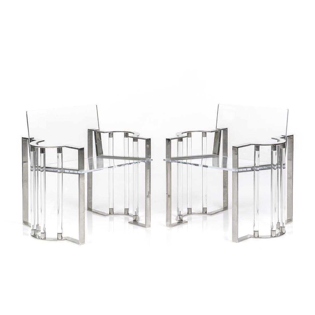 Charles Hollis Jones Post Line Chairs (2)