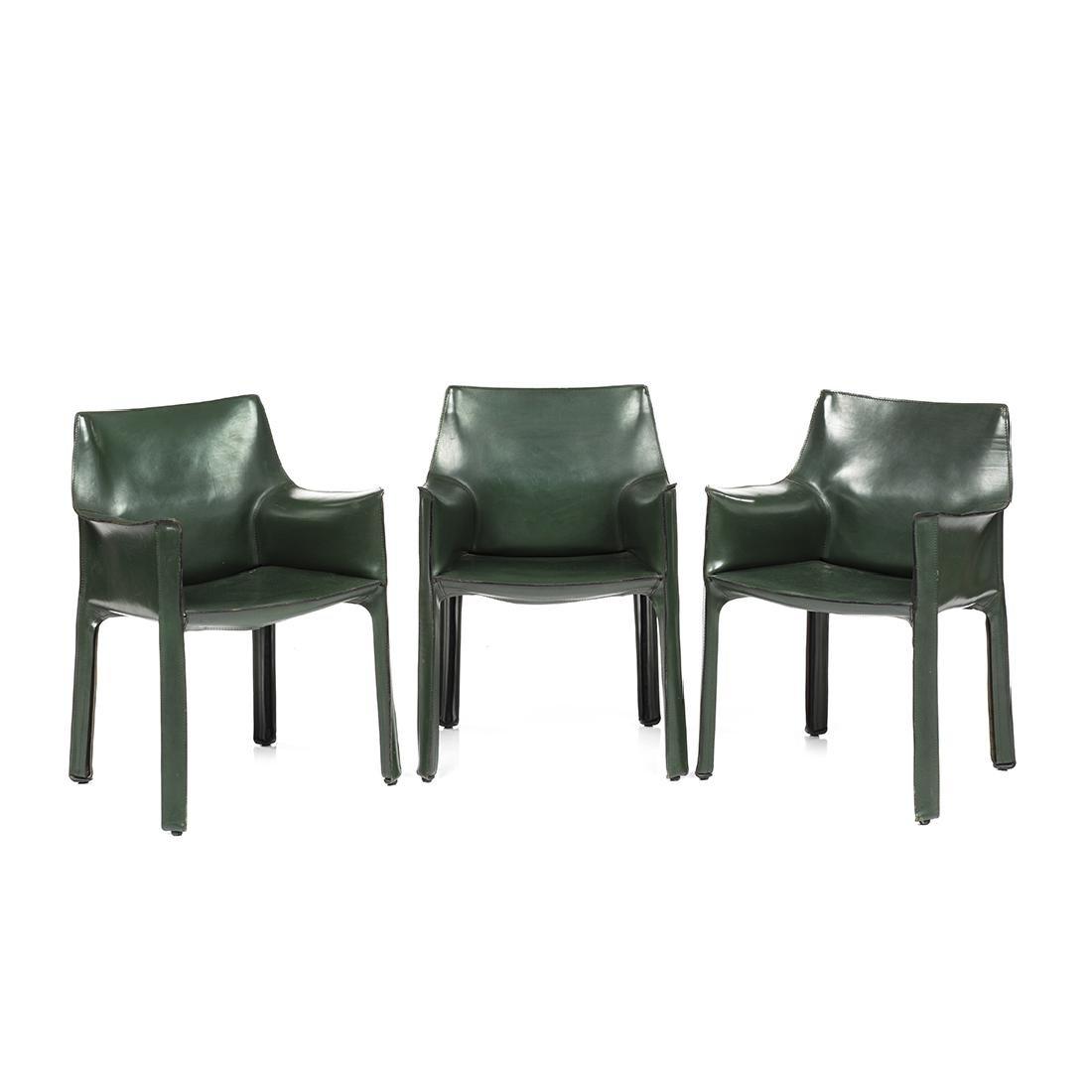 ... Mario Bellini Cab Chairs (3)