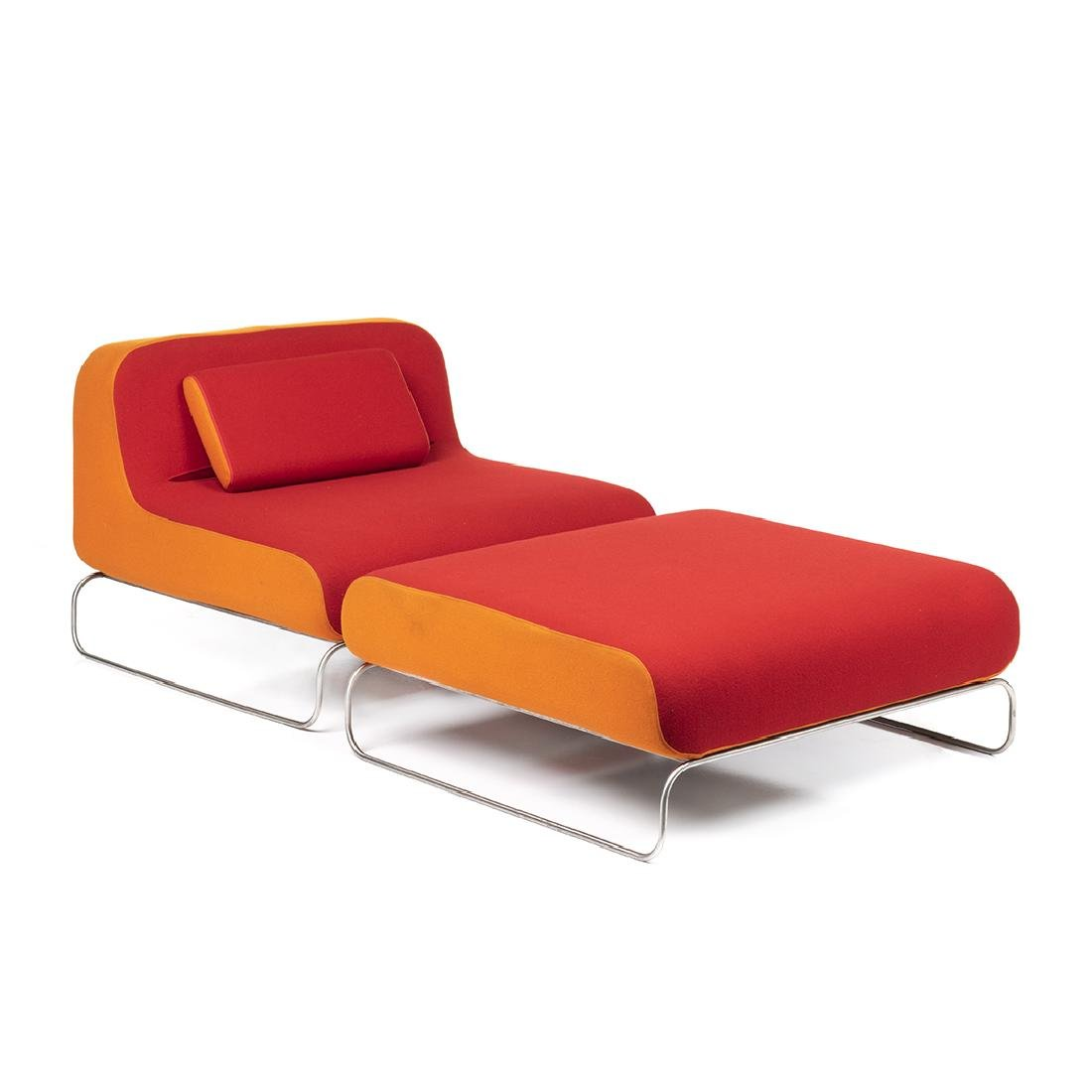 Piero Lissoni Lounge Chair and Ottoman (2)