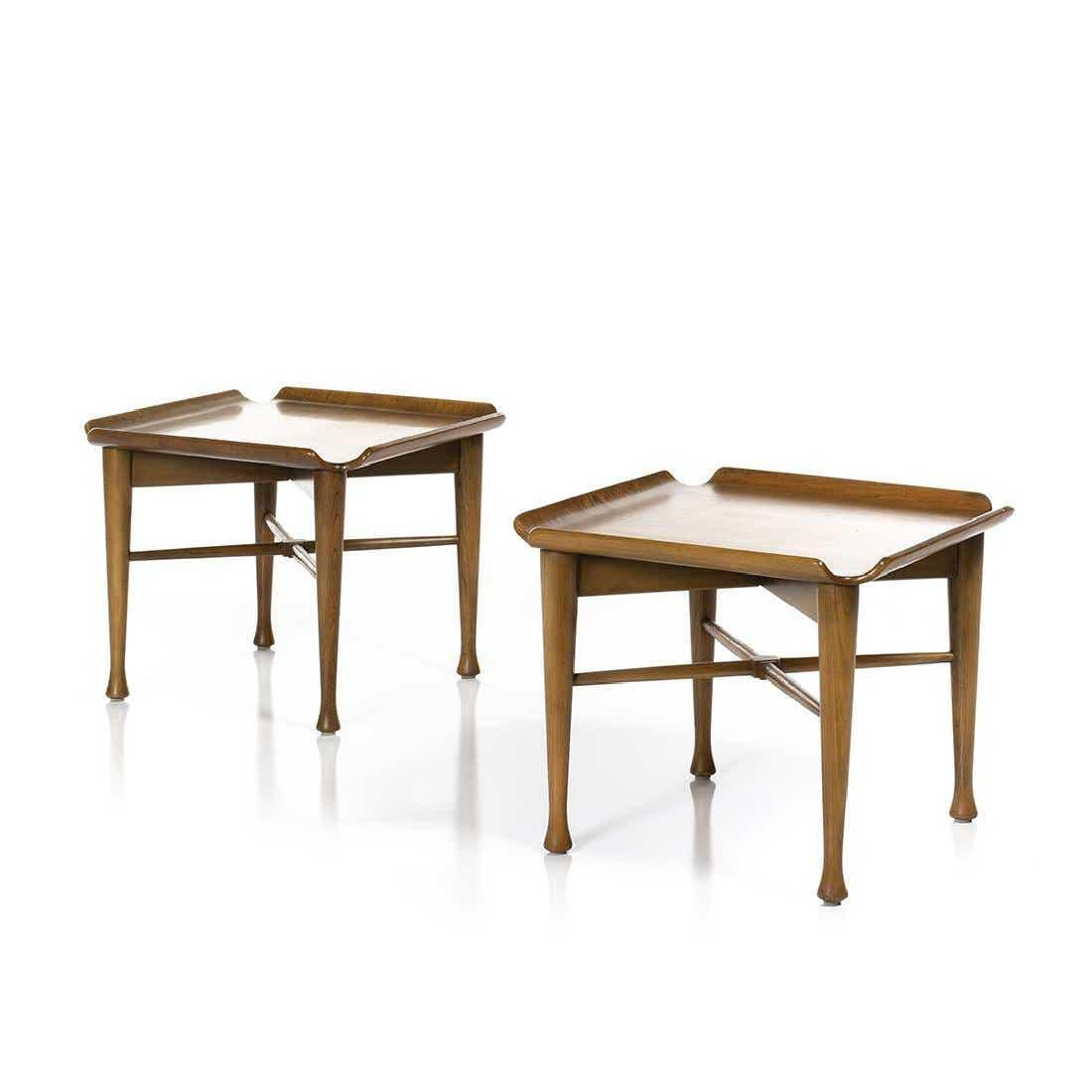 Molded Plywood End Tables (2)