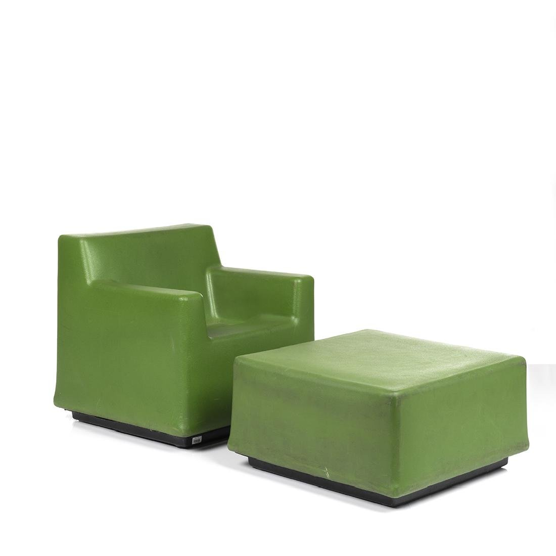 Moduform Chair and Ottoman