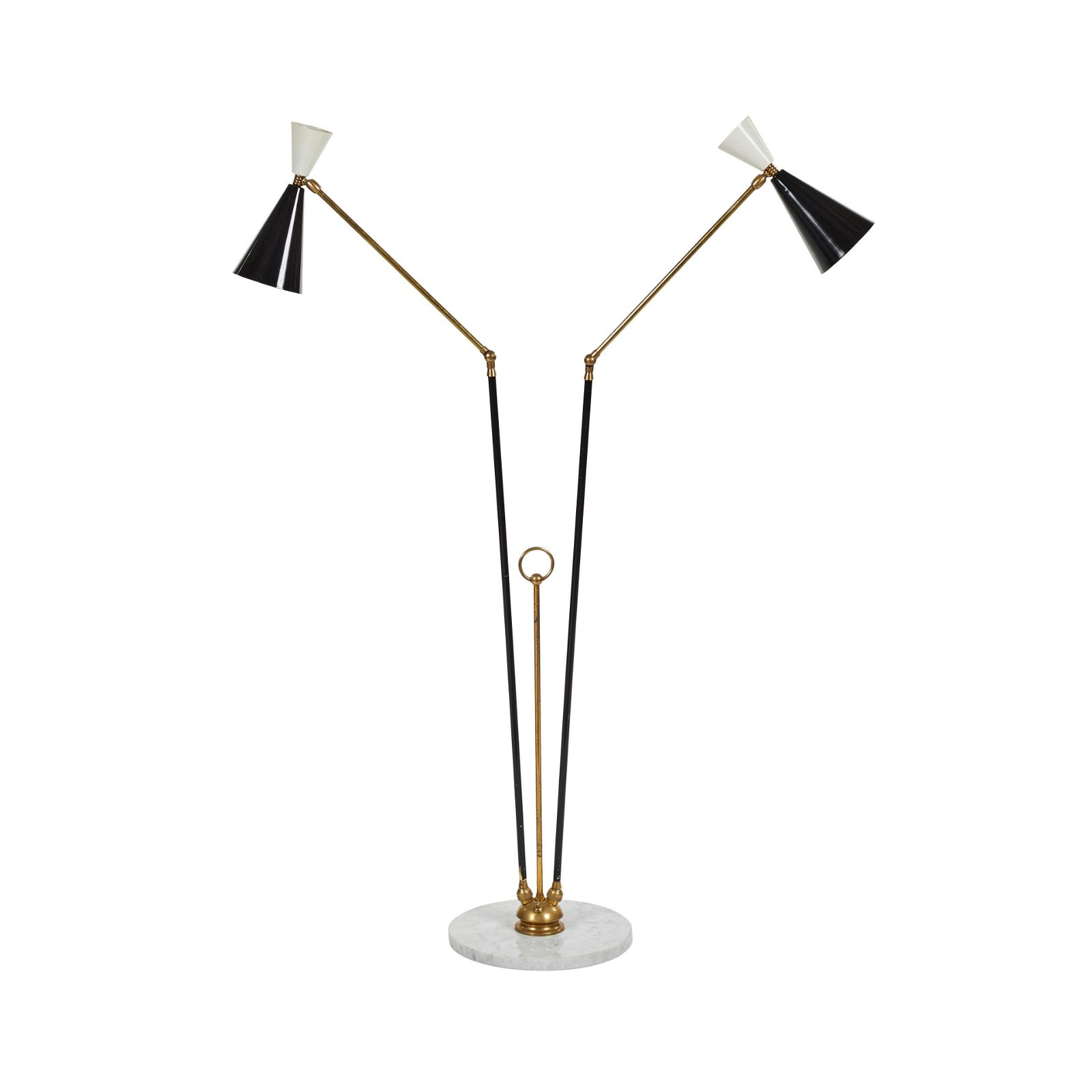 Italian Two-Arm Floor Lamp