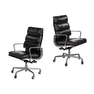 Charles Eames Soft Pad Aluminum Group Executive Chairs
