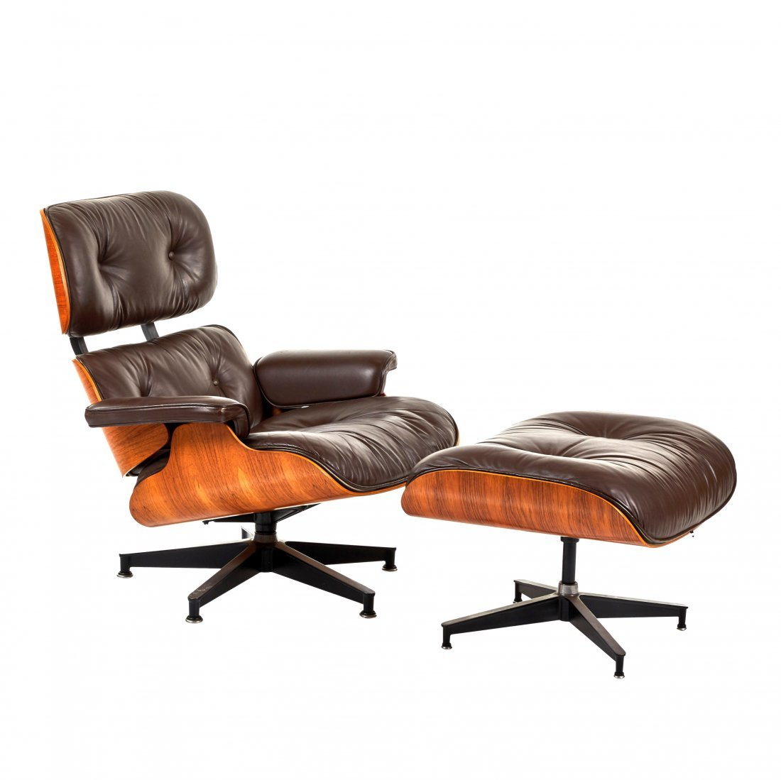 Charles Eames Rosewood Lounge Chair and Ottoman (2)