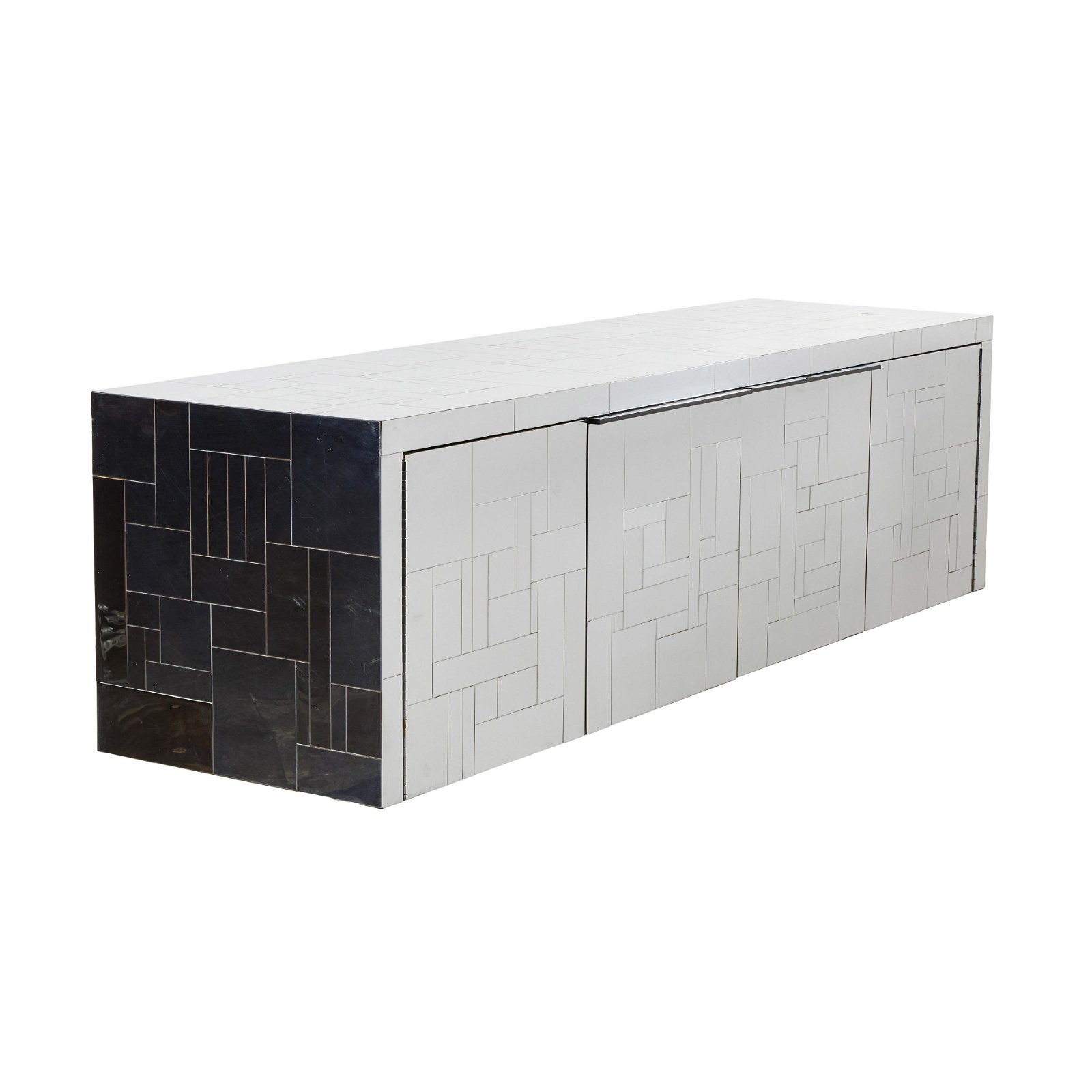 Paul Evans Wall-Mounted Cityscape Credenza