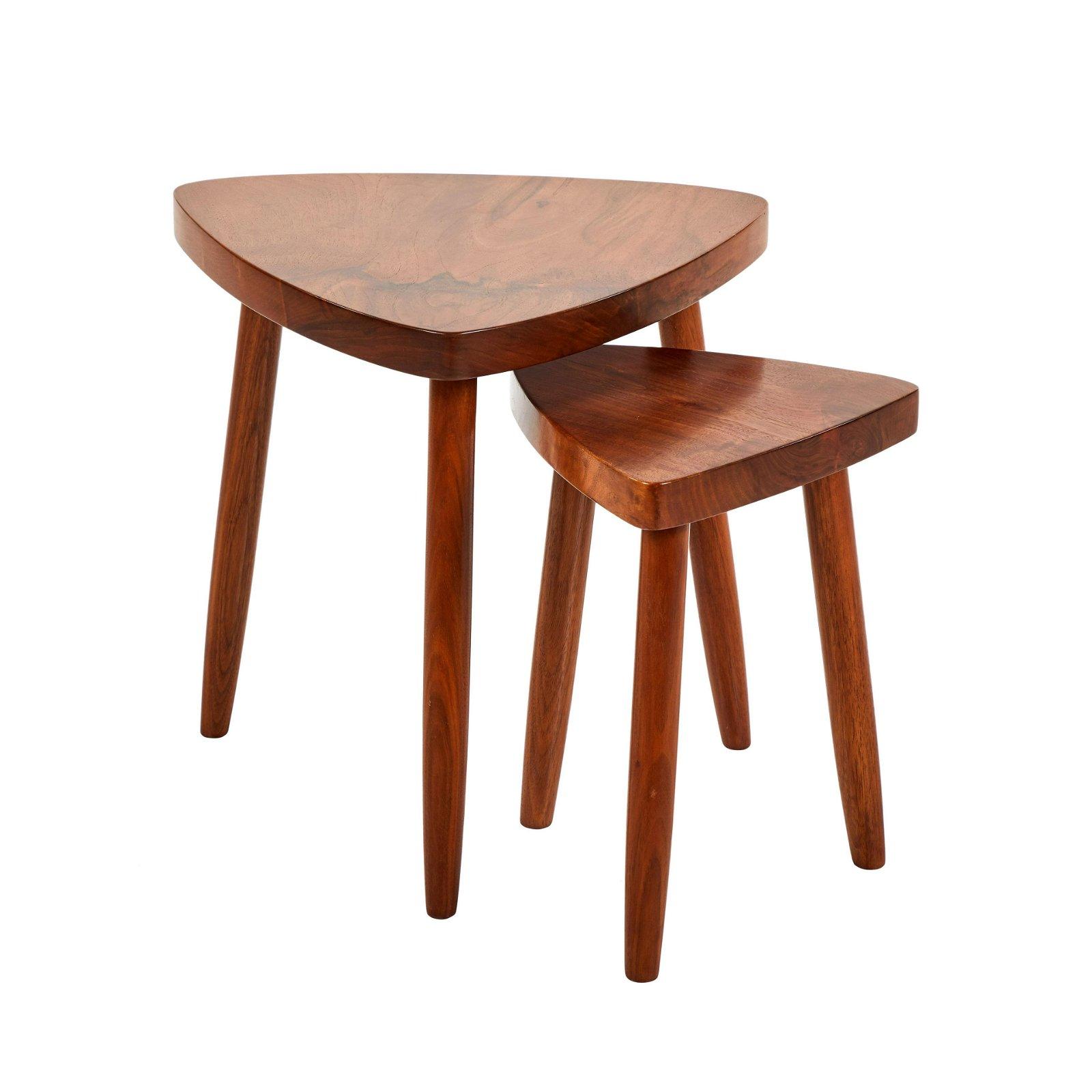 George Nakashima Style Nesting Tables (2)