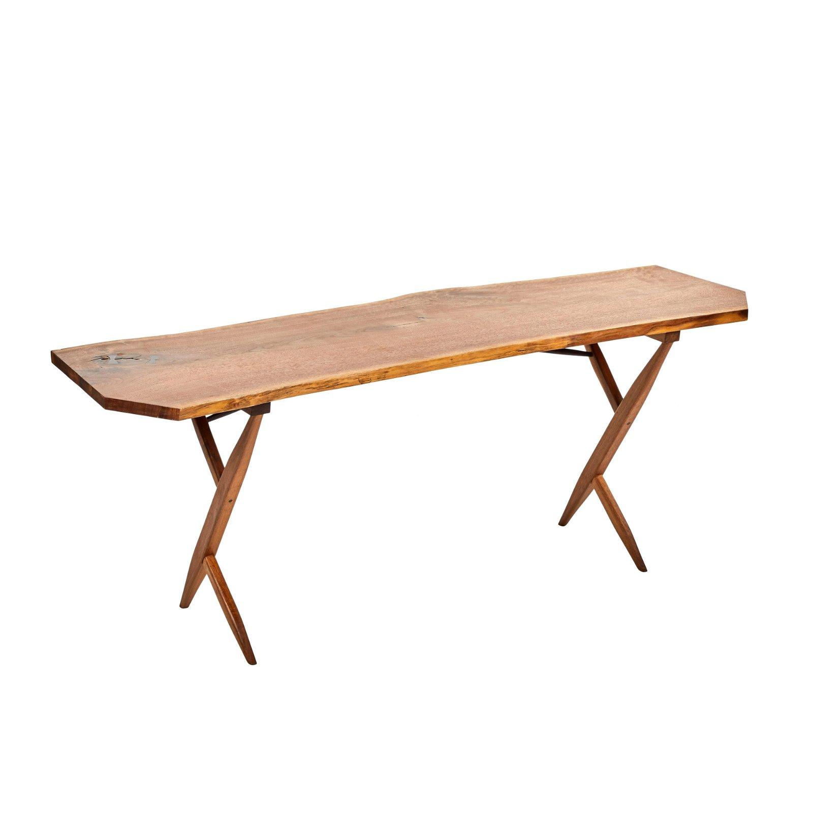 George Nakashima Style Console Table