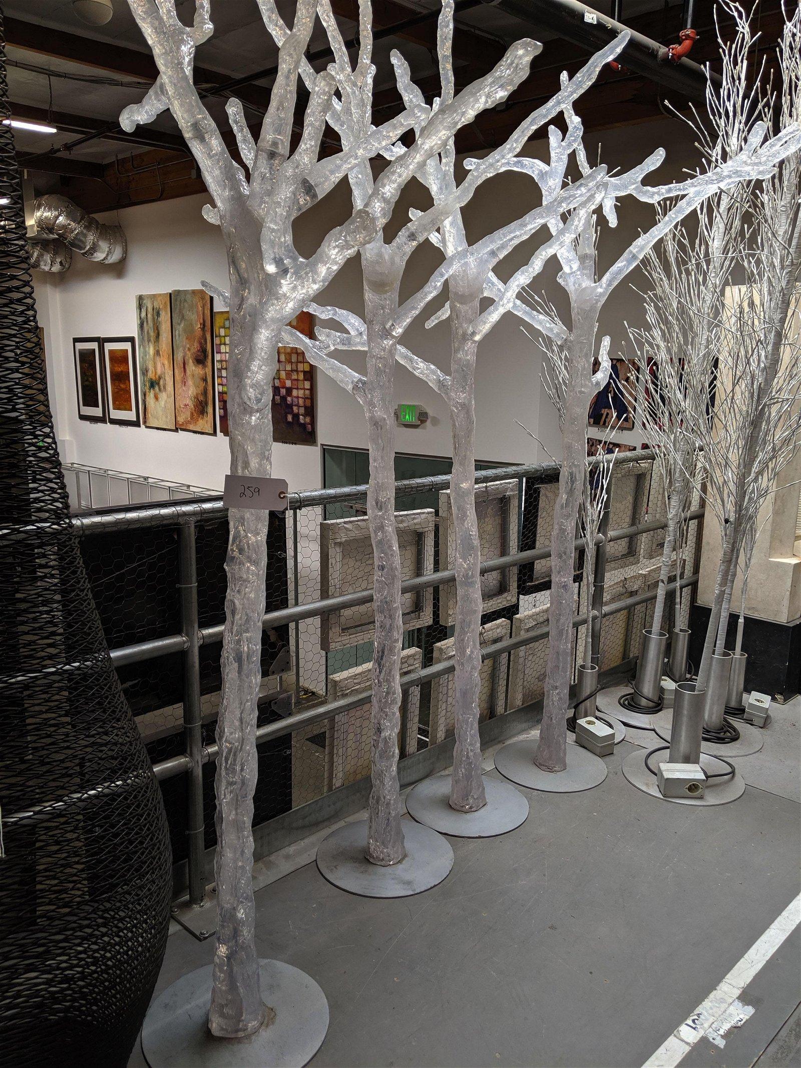 Acrylic Tree Sculptures (4)