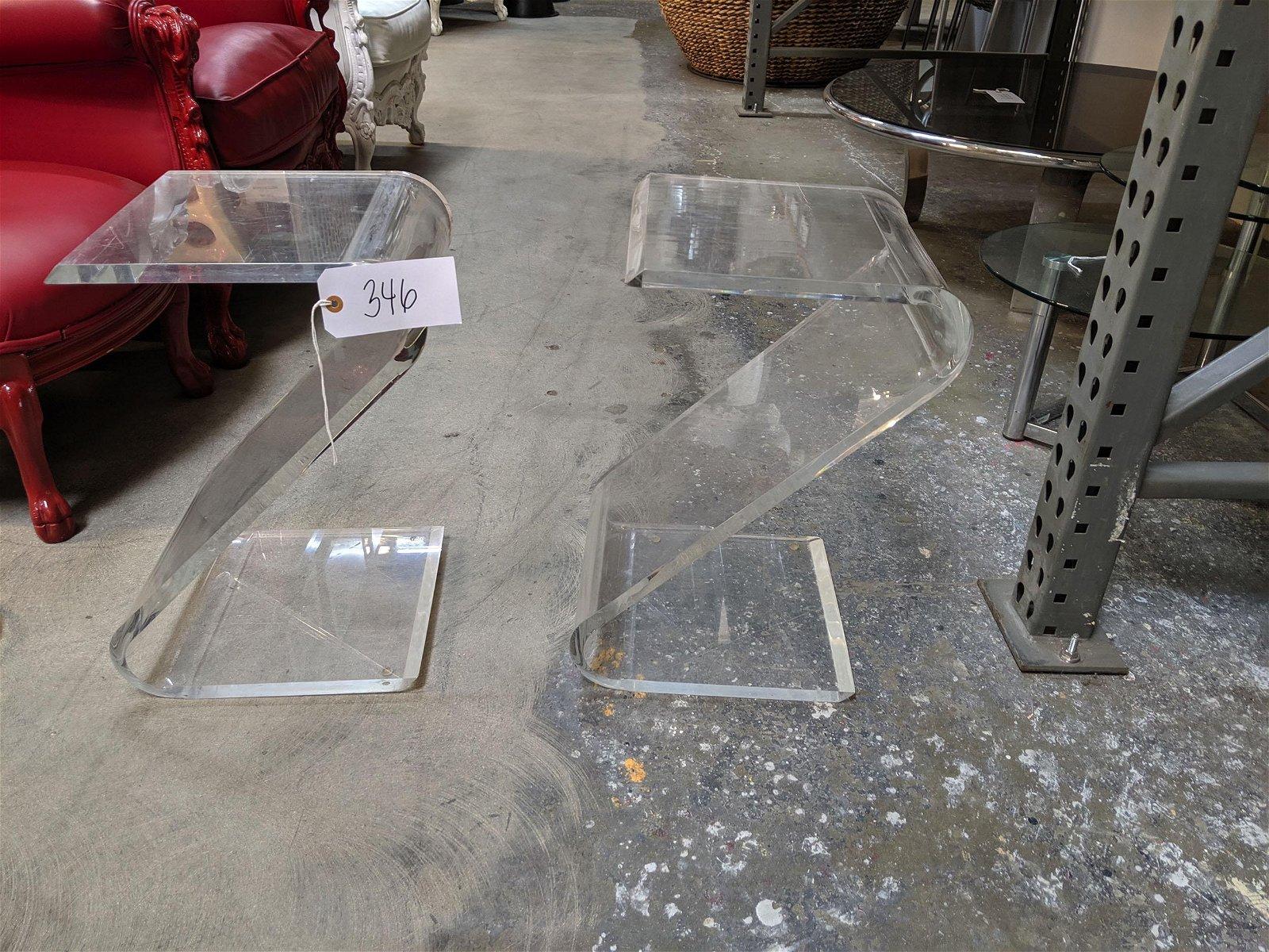 Acrylic Side Tables (2)