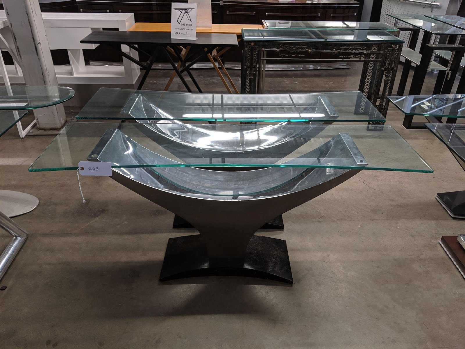 Y-Shaped Console Tables (2)
