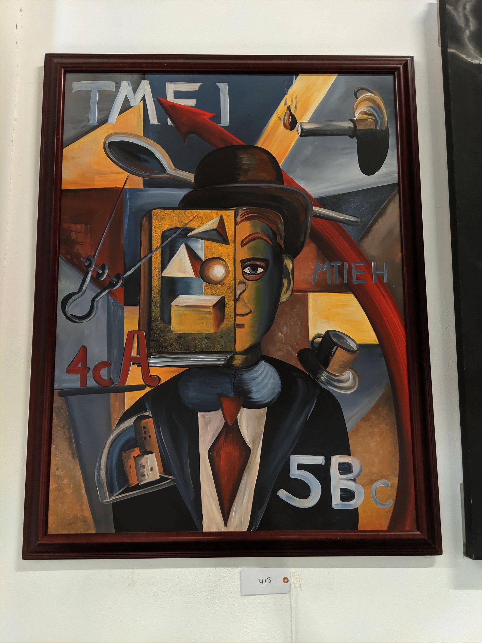 Framed Surrealist Painting