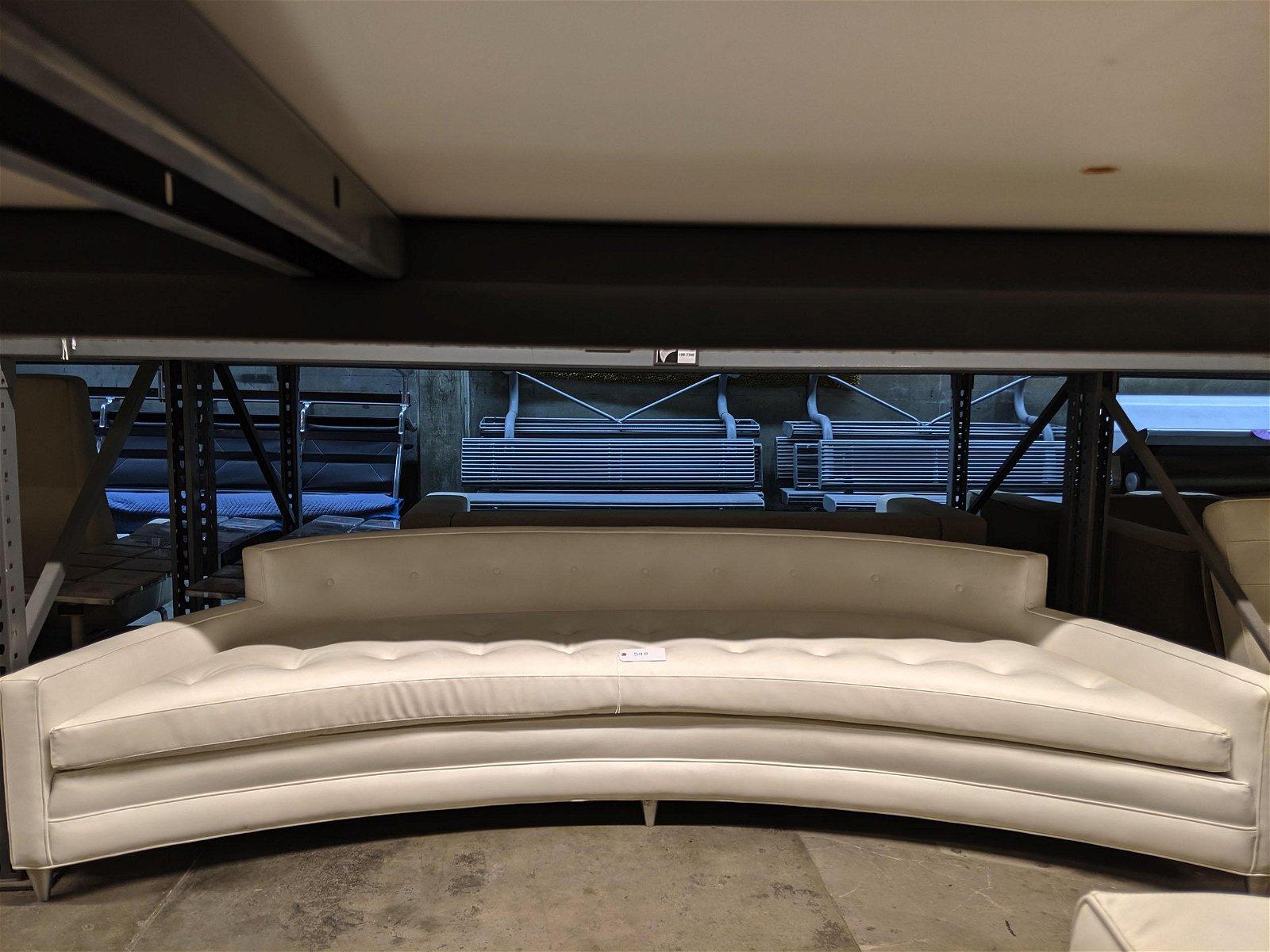 Large Curved Sofa
