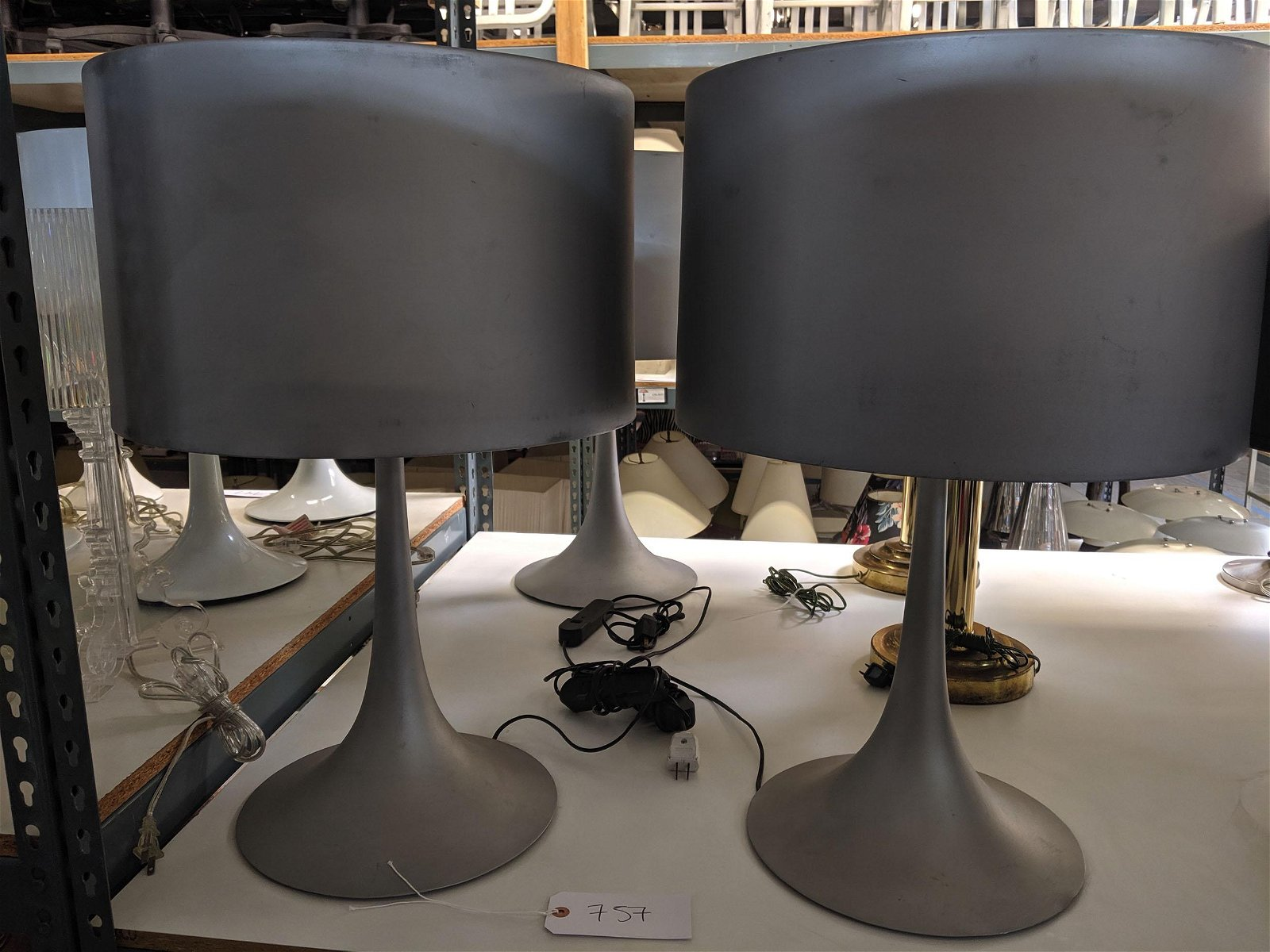 Silver Table Lamps (3)