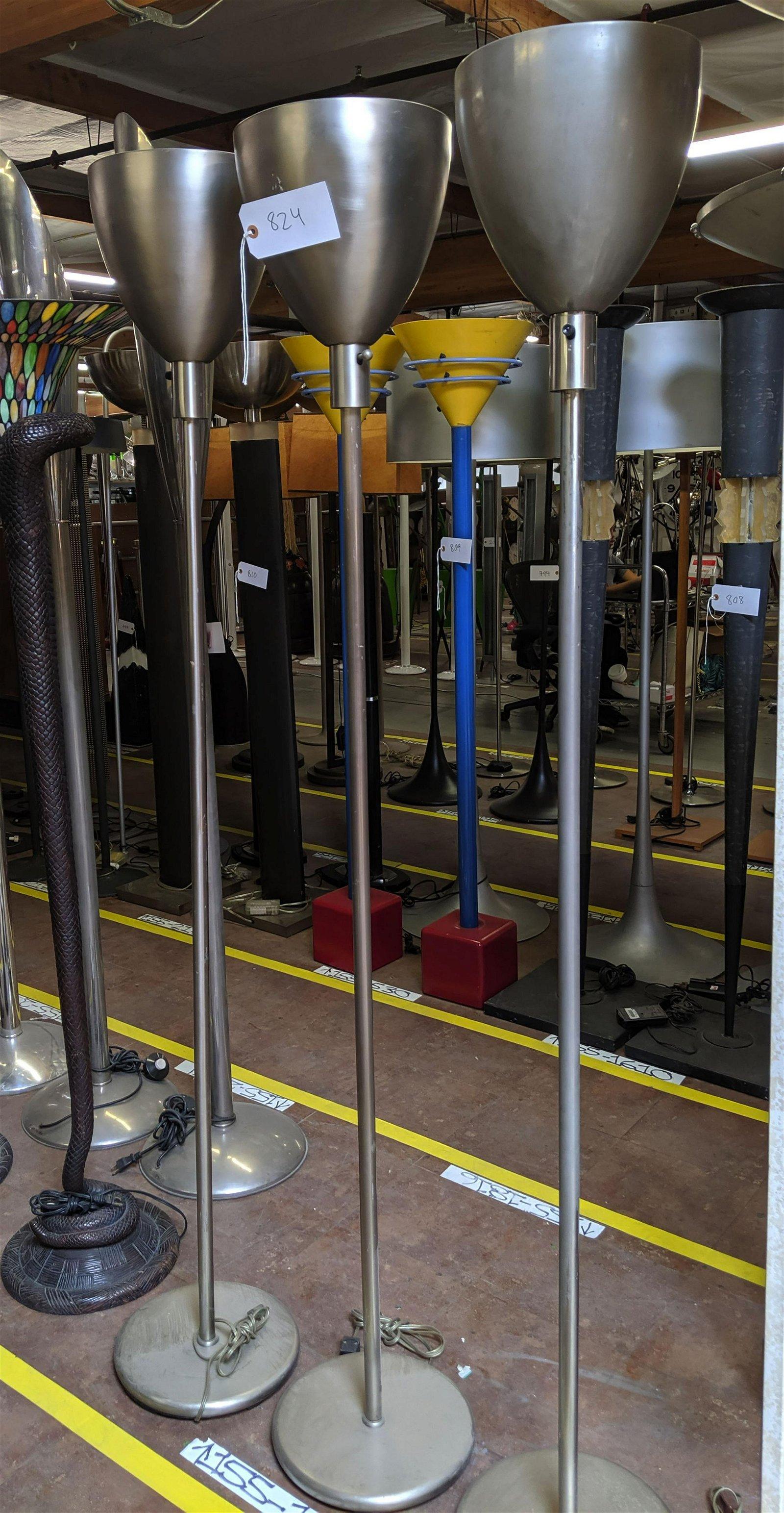 Aluminum Torchieres (3)