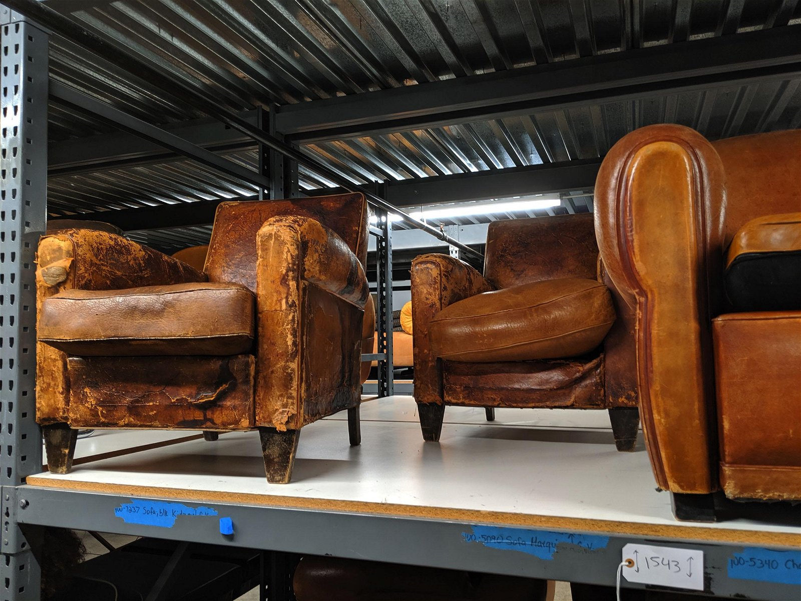 French Leather Seating