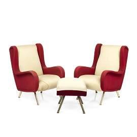 Marco Zanuso Senior Chairs and Ottoman (3)