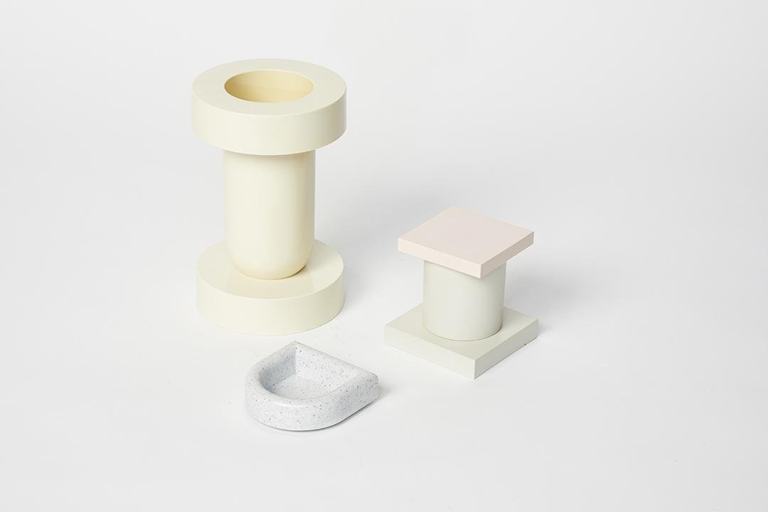 Ettore Sottsass Mirto Vase, Ashtray and Tilia Compote