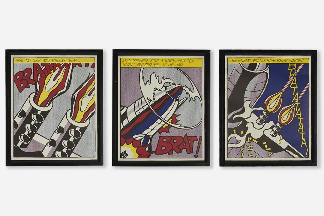 Roy Lichtenstein Triptych (3)
