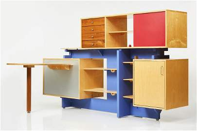 Stewart MacDougall, Unique Room Divider with Desk