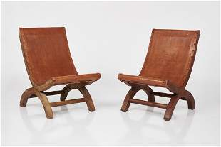 Clara Porset Style, 'Butaque' Sling Chairs (2)