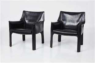 Mario Bellini, 'Cab' Lounge Chairs (2)