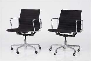 Charles & Ray Eames, 'Aluminum Group' Chairs (2)