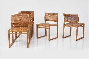 Borge Mogensen, Dining Chairs, Model No. BM61 (6)