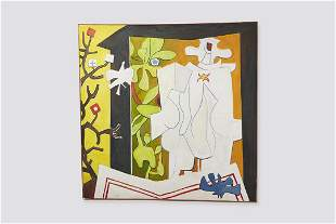 Walter Witt, Large Cubist Oil Painting