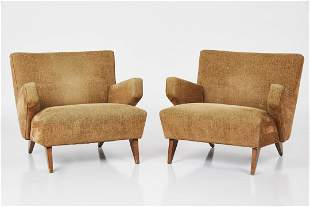 Jens Risom, Lounge Chairs (2)