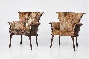 Pacific Green, 'Navajo' Armchairs (2)