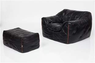 Ligne Roset, Lounge Chair and Ottoman (2)