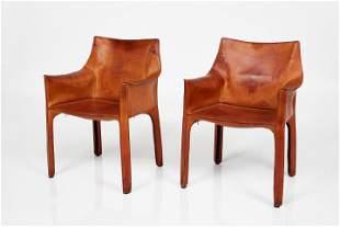 Mario Bellini, 'Cab' Armchairs, Model No. 413 (2)