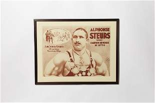 German, Early Boxing Lithograph