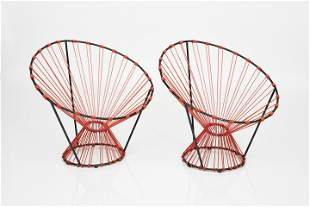 Pierre Guariche, 'Egg Cup' Chairs (2)